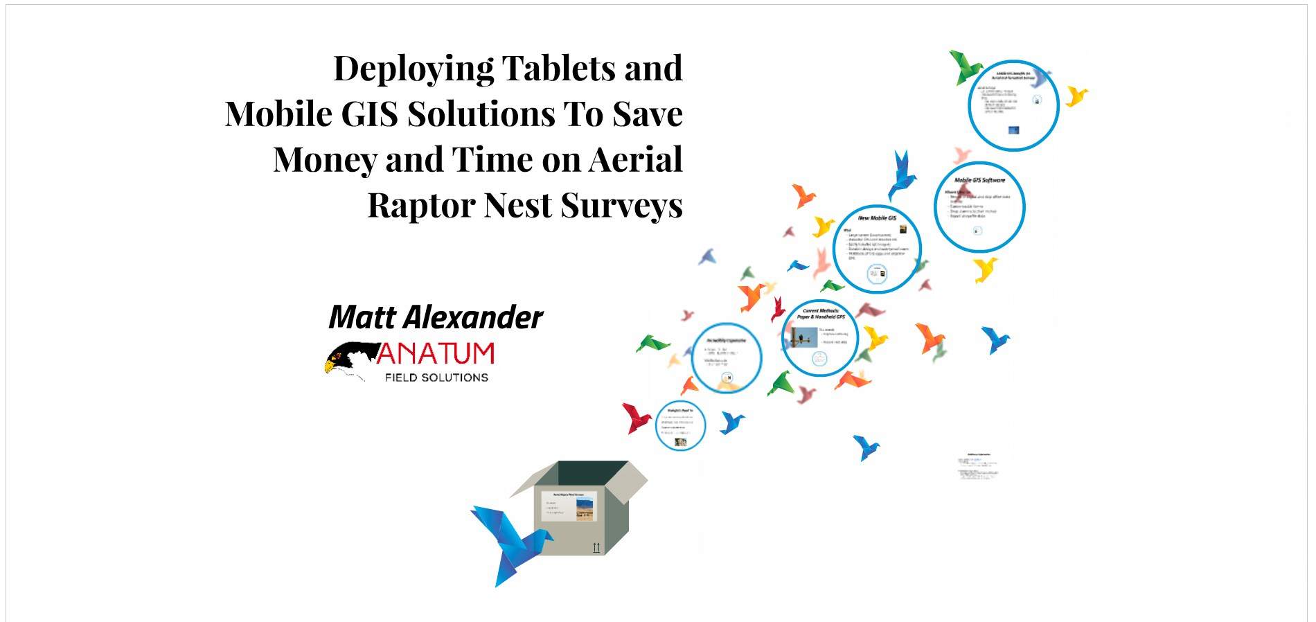 Using Tablets For Data Collection to Increase the Efficiency of Aerial Surveys