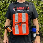 Anatum's Arrow 100 Tablet Chest Pack (Hi-Viz with Front Pockets)
